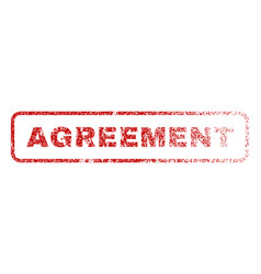agreement rubber stamp vector image