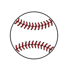 Baseball ball sign isolated vector image