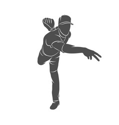 Baseball player ball vector