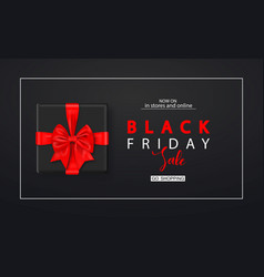 black friday sale background with gift box modern vector image