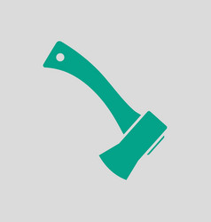 Camping axe icon vector