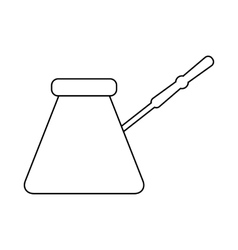 Cezve icon in outline styl vector