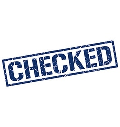 checked stamp vector image vector image