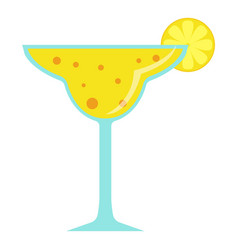 cocktail icon flat style vector image vector image