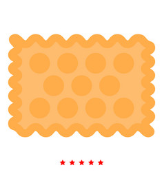 Cookie icon color fill style vector