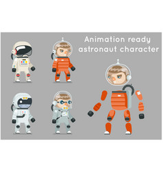 Cosmonaut astronaut spaceman space sci-fi icons vector