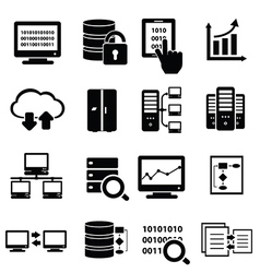Data and information technology icons vector image vector image
