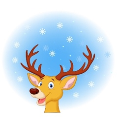 Deer head cartoon vector