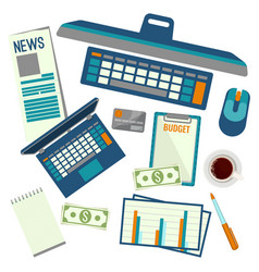 elements necessary for making up budget plan vector image vector image
