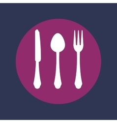 Food cutlery icon vector