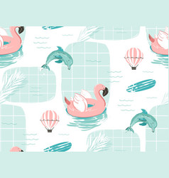 Hand drawn abstract cute summer time vector