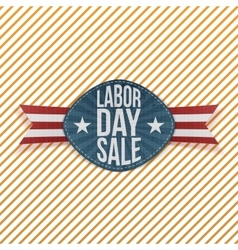 Labor day sale realistic festive emblem vector