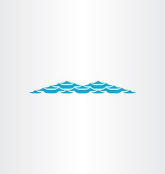 light blue wave abstract symbol vector image