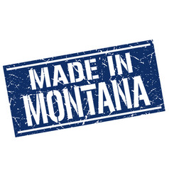 Made in montana stamp vector