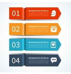 Modern arrow design template for infographics vector image vector image