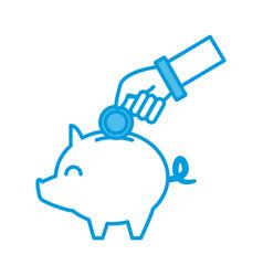 piggy savings symbol vector image