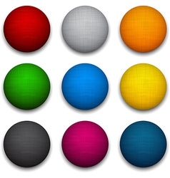 Round colorful textured balls vector
