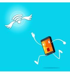 Running smartphone vector