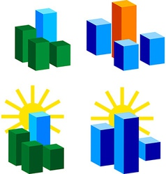 set of building Logos vector image