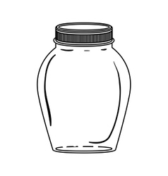 silhouette glass container with lid vector image vector image