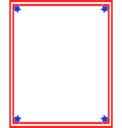 simple frame with a color flag us vector image vector image