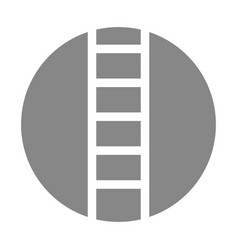 Stairs tool isolated icon vector