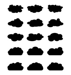 Various black clouds vector
