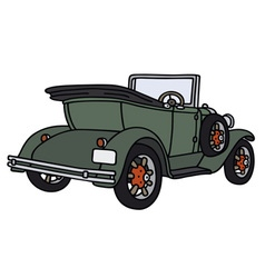 Vintage green cabriolet vector