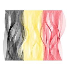 Wave line flag of belgium vector