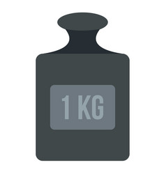 Weight 1 kg icon isolated vector
