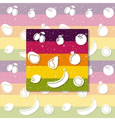 white fruits vector image