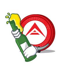 With beer ark coin mascot cartoon vector