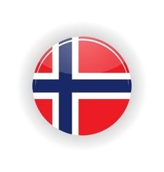 Norway icon circle vector