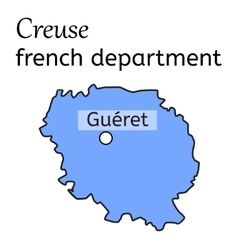 Creuse french department map vector