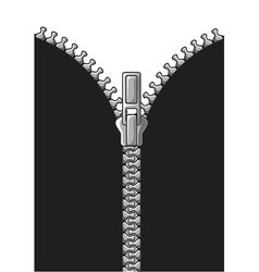 Open zipper vector