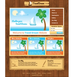 Sea travel webtemplate vector