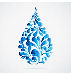 Water drops vector