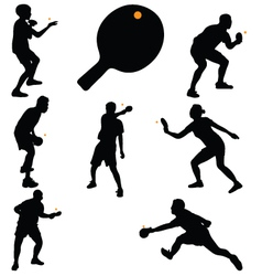 Table tennis players vector