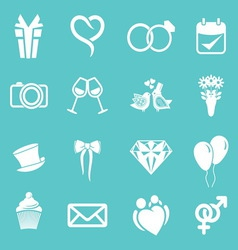 Wedding icons3 resize vector