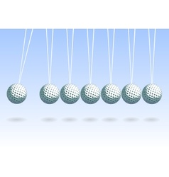 Balancing golf ball vector