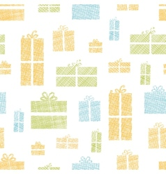 Colorful gift boxes textile texture seamless vector