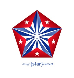 3d abstract star with cuba flag colors vector