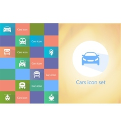 Transports icon set vector