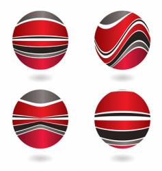 Marble swirl red vector