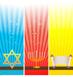 Hanukkah card vector