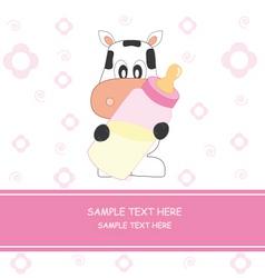 cow girl vector image