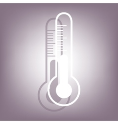 Thermometer icon with shadow vector
