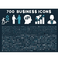 700 flat business icons vector