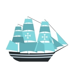 Columbus ship icon vector