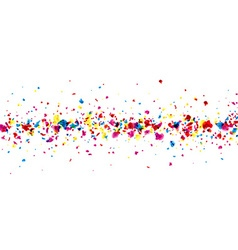 Banner with painted drops vector